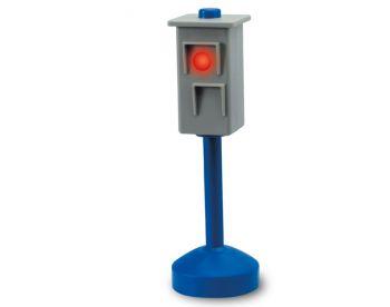 светофор с знаком стоп