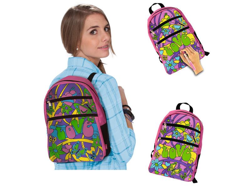 Рюкзак который можно раскрашивать идеальный туристический рюкзак