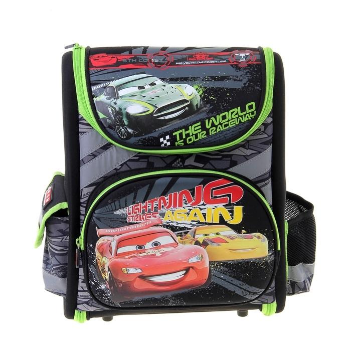 c2dfd2686049 Ранец школьный стандарт раскладной Disney Cars Тачки ортопедический с  EVA-спинкой