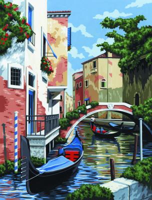 """Раскраска по номерам малая """"Венеция"""" на холсте. (Арт.PCS 5 ..."""